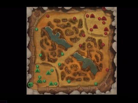 Карта Долины Испытаний