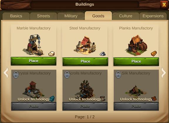 Здания по производству товаров