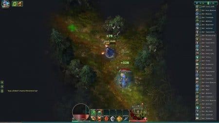 Сражение с другим игроком на карте