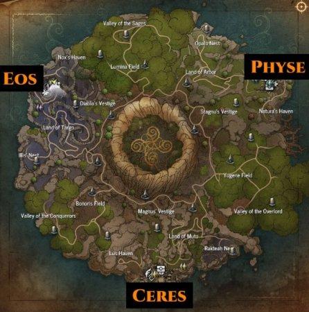Карта артефактов